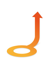 circle arrow orange