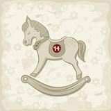koń na biegunach świąteczna ilustracja