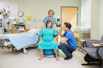 Birthing Mother Having Contraction