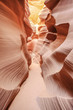 Vertical view of the famous Antelope Canyon
