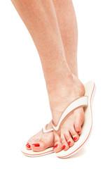 female foot in flip-flop