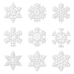Paper cut snow flakes