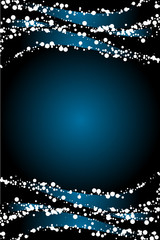 Vector blue background with snow decoration