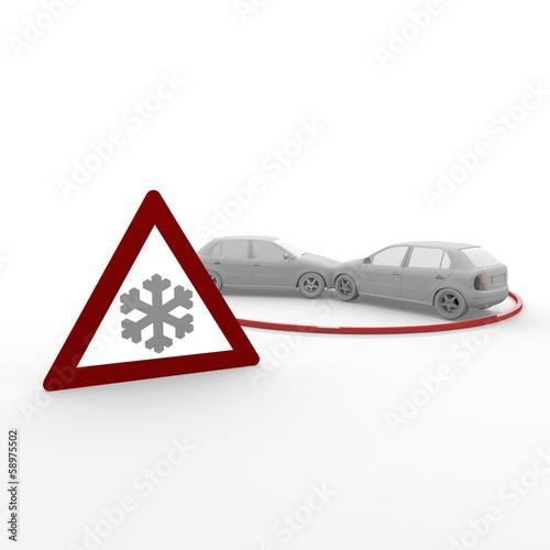 auto, winter, unfall, autounfall,