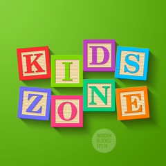 Kids Zone - wooden blocks