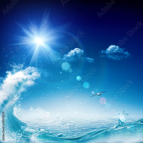 In the ocean, abstract environmental backgrounds for your design