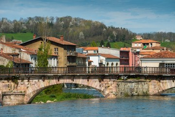 Bridge in Saint-Girons town, France