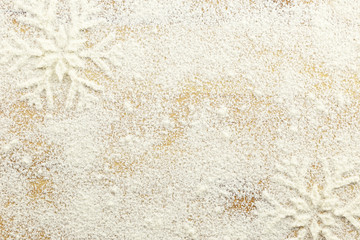Creative white winter time background