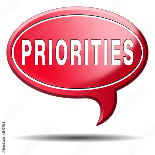 priorities button