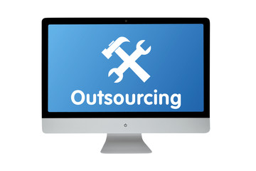 Outsourcing. Modern computer