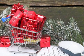 Onlineshopping Weihnachtsgeschenke