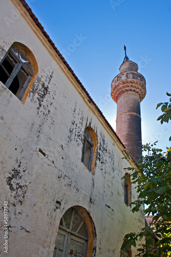 Old mosque in the abandoned Greek/Turkish village of Doganbey, T