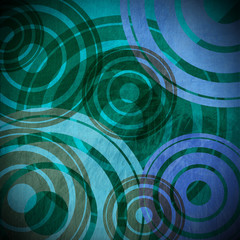 Grunge Circles Background - Cold Colors