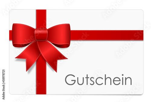 Karte Schleife Gutschein