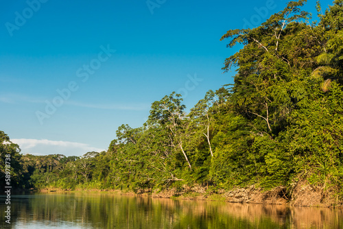 heath river peruvian Amazon jungle Madre de Dios Peru