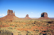 Famous view of Monument Valley