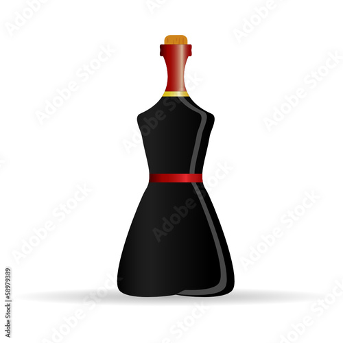 bottle of alcohol black vector illustration