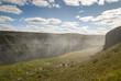 spruzzi della cascata gullfoss in Islanda