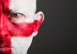 Man with his face painted with England flag
