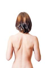 bare back isolated women