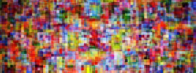 Mosaïque carré coloré large