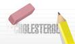 erase cholesterol concept illustration design