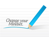 change your mindset message illustration