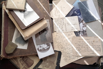 Old photos, album and correspondence.