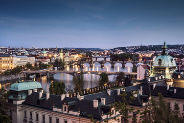 Prague at twilight
