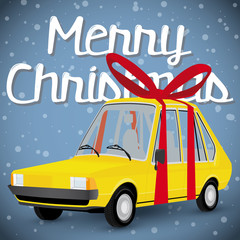 funny cartoon styled gift car