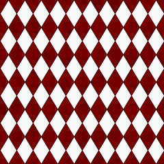 Red and White Diamond Shape Fabric Background
