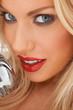 Close up portrait of a seductive blond