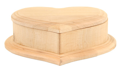 Wooden casket, isolated on white