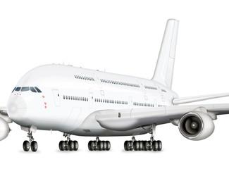 Passagierflugzeuge, Jumbo Jet  freigestellt
