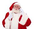 Grimmig schaueren Weihnachtsmann telefoniert