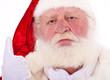 Grimmig schauender Weihnachtsmann