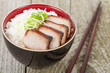 Char Siu Pork - Chinese roasted pork with steamed rice