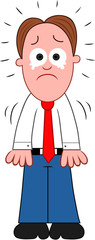 Cartoon Businessman Crying
