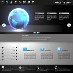 Professional Website Design Dark Template