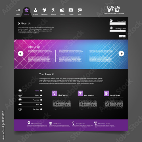 Dark Website Template