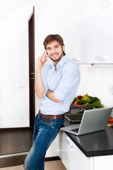 young man kitchen