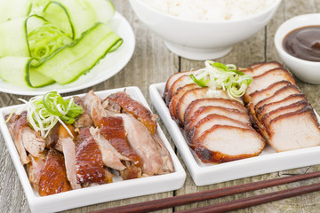 Char Siu Pork & Peking Duck - Traditional Chinese roasted meat