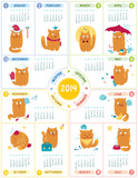 Calendar 2014 With Cute Cats