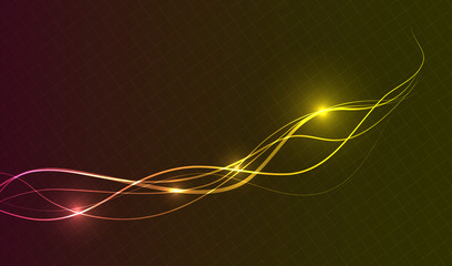 Colorful Curvy Lines Abstract Background