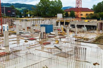 Wohnhaus wird gebaut