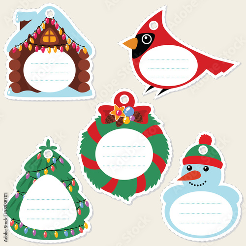 Сhristmas gift tags. Some blank space for your text included