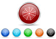 spider web icon vector set