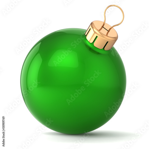 Christmas ball New Years Eve bauble decoration green wintertime