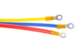 Electric cables with insulated ring terminal
