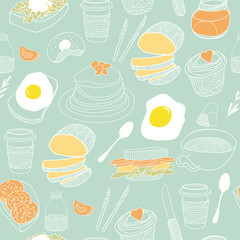 Food seamless background